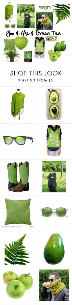 """""""You & Me & Green Tea"""" by mammamiaeme ❤ liked on Polyvore featuring NOVICA, Casetify, Ray-Ban, Duvetica, Ariat and etsyevolution"""