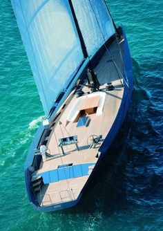 Wally Esense Mega Sailing Yacht because - Money can't buy happiness but it can buy a yacht, to be unhappy on and for others to enjoy. Yacht Design, Boat Design, Wally Yachts, Cool Boats, Remo, Yacht Boat, Super Yachts, Sail Away, Set Sail