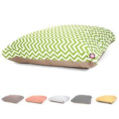 Majestic Pet Zig Zag Rectangle Pet Bed - PetSmart, water/stain resistant, machine washable cover (50x42)