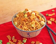 Spicy Asian Peanut Butter Noodles with Tofu | Little Kitchen, Big Bites