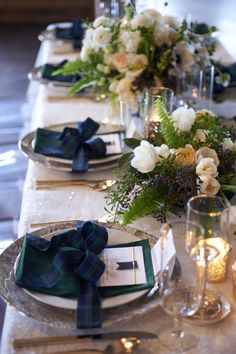 Tartan and Tulle Inspiration Shoot | Tablescapes, Wedding…