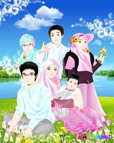 gambar kartun islami auto design tech 600 x 452 jpeg 20 gambar Cartoon Familie, Wedding Couple Cartoon, Ice Bear We Bare Bears, Cute Muslim Couples, Anime Muslim, Muslim Family, Anime Love Couple, Arabic Art, Wedding Couples