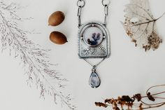 Dendritic Agate Evolution Necklace Dendritic Agate, Evolution, Pendant Necklace, Jewelry, Jewlery, Jewerly, Schmuck, Jewels, Jewelery