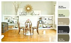 """Love that pale """"Honeydew"""" wall color. Paint colors from Chip It! by Sherwin-Williams"""