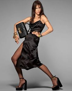 """Irina Shayk for Versace "" Donatella Versace, Gianni Versace, High Fashion Poses, Versace Designer, Steven Meisel, Irina Shayk, Casual Street Style, Our Girl, Beautiful Models"