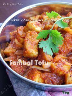 "This Sambal Tofu is a good example of ""Trully Malaysia"" food, tofu as Chinese traditional food, and sambal the Malay, and guess what? Tofu Recipes, Asian Recipes, Gourmet Recipes, Vegetarian Recipes, Cooking Recipes, Healthy Recipes, Ethnic Recipes, Savoury Recipes, Sambal Recipe"