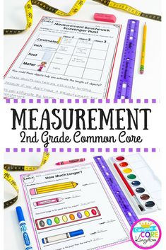 Measurement 2nd Grade Common Core 2.MD.A.1 Measurement Tools 2.MD.A.2 Measurement Units 2.MD.A.3 Estimate Lengths 2.MD.A.4 Compare Lengths 2.MD.B.5 Measurement Word Problems
