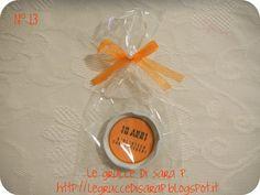 Magnete con il tappo di un barattolo di vetro