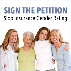 Stop insurance companies from charging women up to 50% more than men for health care.