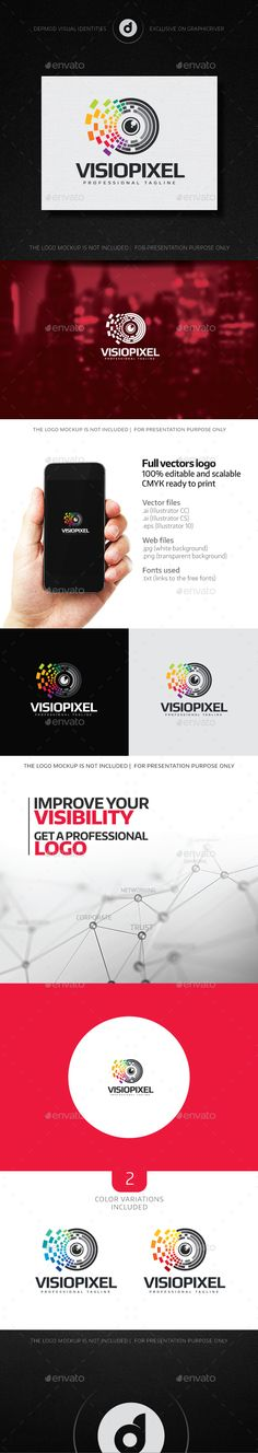 VisioPixel Logo Template #design Download: http://graphicriver.net/item/visiopixel-logo/14042058?ref=ksioks