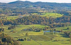 Aerial view of Middleburg | Salamander Resort & Spa | Middleburg, Va.