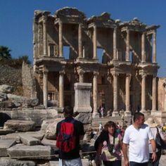 The Tourists and Celsus Library, Ephesus, Selcuk, Turkiye