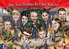Funny Christmas Photo Ideas   Caricature Christmas and Holiday Cards