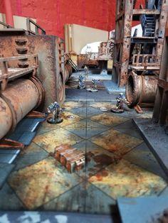 The Narrative Forge: Easy Necromunda Terrain! Warhammer Terrain, 40k Terrain, Game Terrain, Metallic Spray Paint, Thinking Outside The Box, Escape Room, Wood Glue, Space Marine, Source Of Inspiration