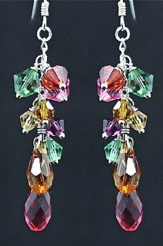 With beaded jewelry you can make your own customizable jewelry that is completely unique and fitting to your exact style. Making beaded jewelry is not very difficult and can, in fact, be a lot of fun. Swarovski Jewelry, Crystal Jewelry, Beaded Jewelry, Swarovski Crystals, Gold Jewellery, Silver Jewelry, Handcrafted Jewelry, Earrings Handmade, Do It Yourself Jewelry