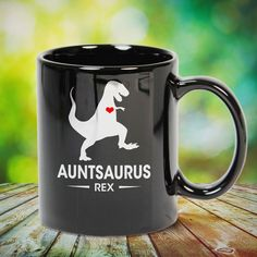 AuntSaurus Dinosaur Rex Gift for Auntie Great t-shirts, mugs, bags, hoodie, sweatshirt, sleeve tee gift for aunt, auntie from niece, nephew or any girls, boys, children, friends, men, women on birthday, mother's day, father's day, Christmas or any anniversaries, holidays, occasions.