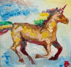 #fantasy #unicorn #love // #oil #art