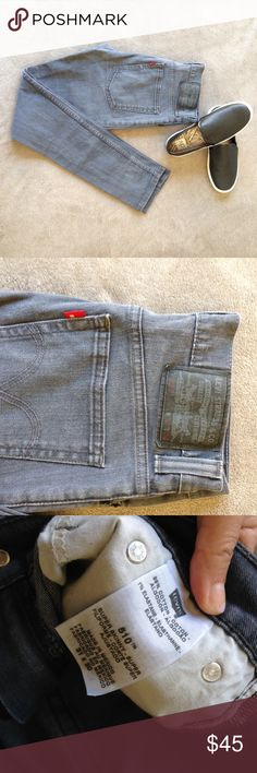 EUC  [Levis] 510 Distressed Super Skinny Jeans I'm sad that these jeans don't fit, they are just one size too small for me. These jeans are super cool and have an urban look them with small distressed areas throughout. Just the right amount! Levi's Jeans Skinny