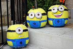 Halloween Minions Pumpkins