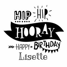 Hippe verjaardag in handlettering / typografie stijl. Helemaal van nu in…