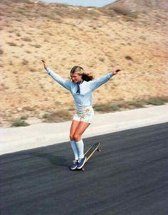 A skateboarder in 1976