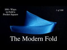 How to Fold a Pocket Square Rose Fold with two Pocket Squares - YouTube