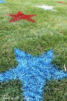 painted of july lawn stars, outdoor living, painting, patriotic decor ideas, seasonal holiday decor Patriotic Crafts, Patriotic Party, July Crafts, Holiday Crafts, Holiday Fun, Holiday Ideas, Holiday Themes, Favorite Holiday, 4. Juli Party