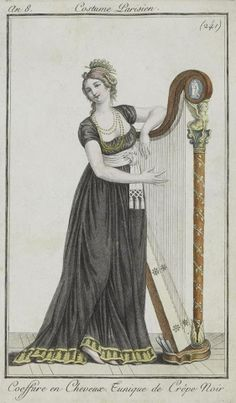 Mourning Gown, Costume Parisien, 1808.