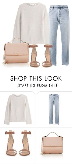"""""""Untitled #3735"""" by ericacavaco12 ❤ liked on Polyvore featuring Helmut Lang, Vetements, Gianvito Rossi and Givenchy"""