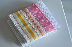 Ribbon dish towels- so cute!