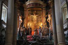 Braga - Portugal Bom Jesus do Monte Altar mor do Templo