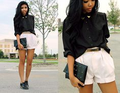 Pink and Black (by Sharena C.) http://lookbook.nu/look/3828389-Pink-and-Black