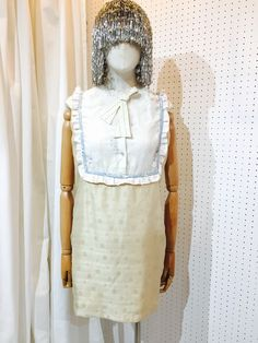 SRITALA : MINI CREMY DRESS#remakeclothes #ream #sritala #changchui #changchuibkk #bangkok #thailand #dresses