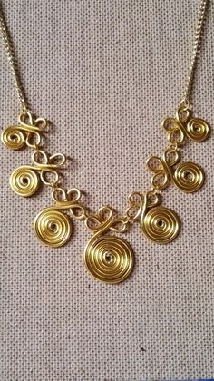 spiral wire necklace                                                       …