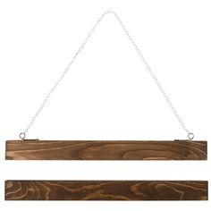 Ramlist för poster. 31 cm. Tvådelade trälister med dolda magneter att fästa i posterns övre- och undre del.