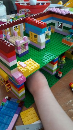 Lego houses I built with my daughter #6yroldlegogenius