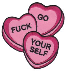 SOURPUSS CANDY HEARTS PATCH