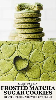 Gluten Free Cookies, Gluten Free Baking, Vegan Baking, Yummy Cookies, Vegan Gluten Free, Sugar Cookies, Cookie Desserts, Healthy Desserts, Cookie Recipes