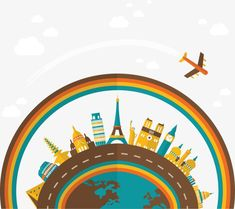 Cartoon Earth Globe Travel Architecture, Cartoon, Earth, Global PNG and Vector