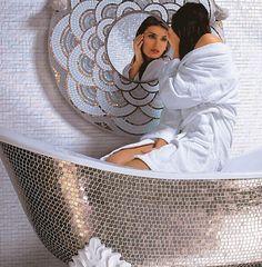 Glass facing bathtub surround / mosaic tile ALBA SICIS