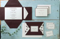 Ivory and Chocolate DIY Wedding Invitations - DIY Invitations