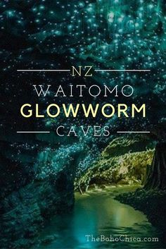 Waitomo Glowworm Caves in New Zealand is a breathtaking natural sight that should be on your travel bucket list.