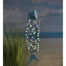 Hanging Solar Fish Garden Art Wall Decor