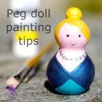 wooden peg dolls spun cotton how to paint