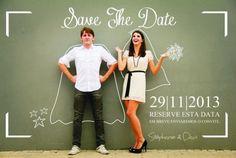 no quadro de gis o Save the date! #casamento #criativo