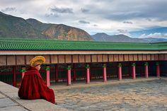 Meditáció, Kanszu tartomány, Kína, 2017 Meditation, Gansu province, China, 2017 Photo: Somogyi Márk - http://www.somogyimark.hu #china #monk #buddhism #monastery #tibet