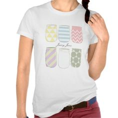 colorful jars nice shirts monogram text tee shirts