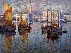 "KONSTANTIN IVANOVICH GORBATOV (RUSSIAN 1876-1945), ""View of the Doge's Palace and Piazza San Marco, Venice,"" 1927"