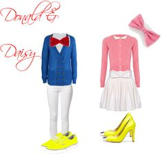 Donald and Daisy Duck costumes Donald Duck Party, Donald Duck Costume, Donald And Daisy Duck, Duck Costumes, Disney Halloween, Halloween Town, Halloween Outfits, Halloween Costumes, Halloween 2016