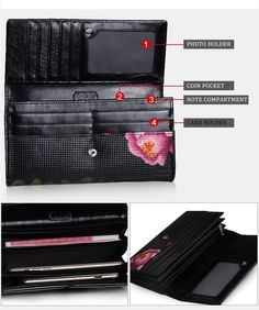 Europe And American Style Long Womens Wallets And Purses Brand Clutch Bag Luxury Designer Evening Bag Printing Flowers